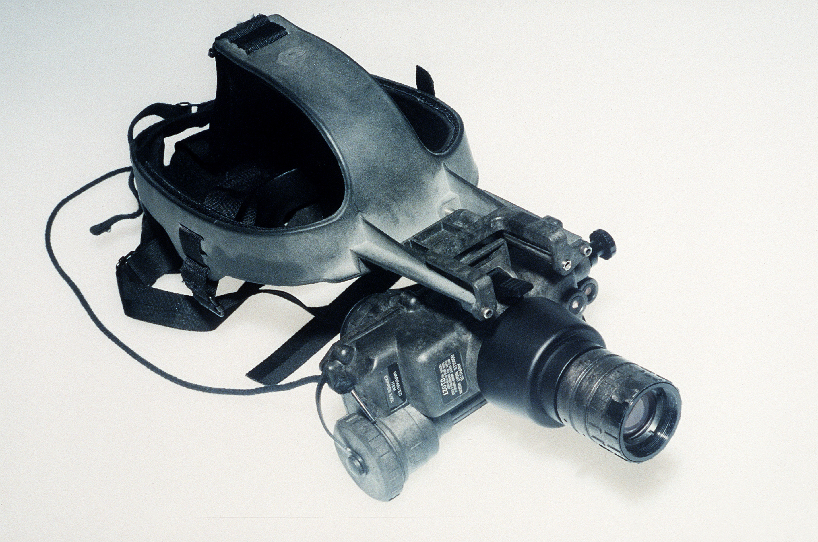 a night vision goggle with attached head mount
