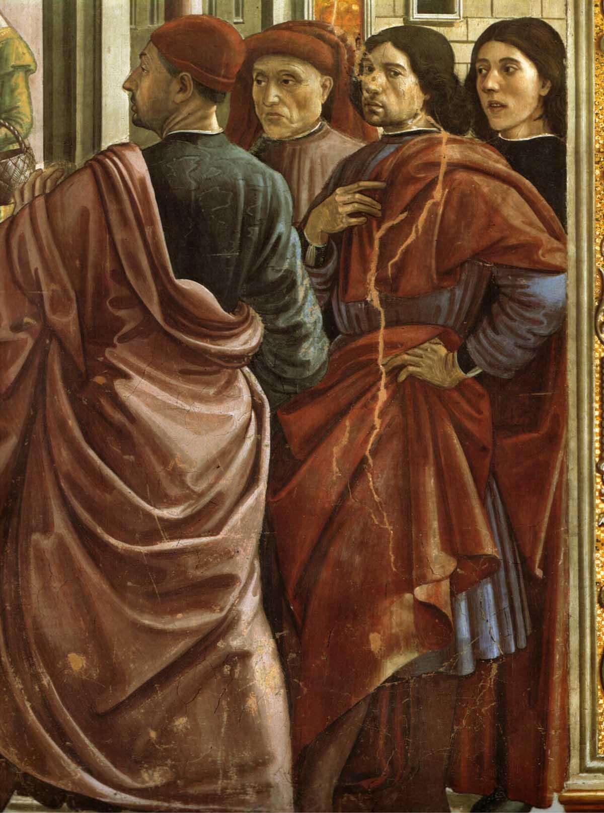 Domenico Ghirlandaio, Cappella Tornabuoni,Cacciata di Gioacchino(dettaglio)