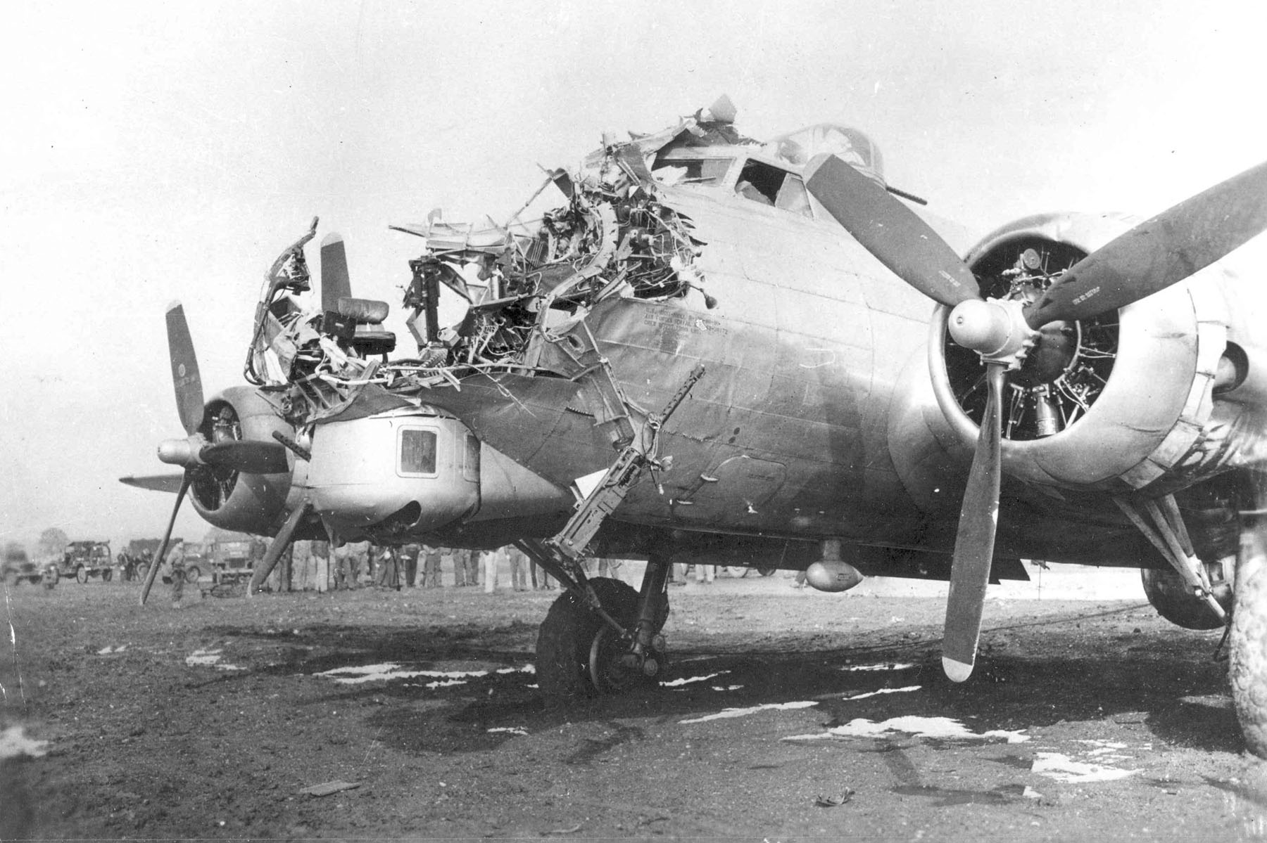 A B-17 Flying Fortress took this damage and successfully returned to its  home airfield.
