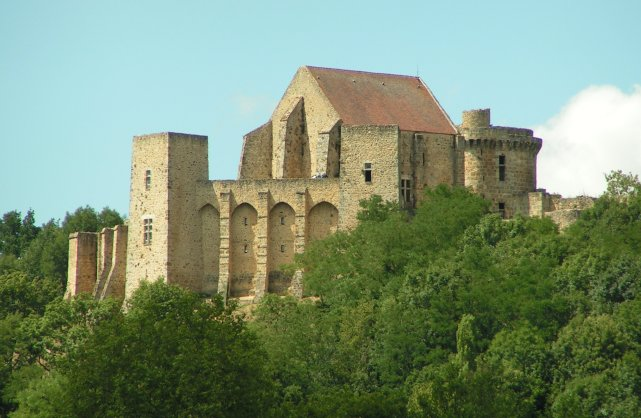 Château de la Madeleine vu depuis Chevreuse