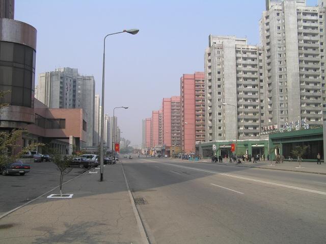 File:Changwang Street in Pyongyang.jpg
