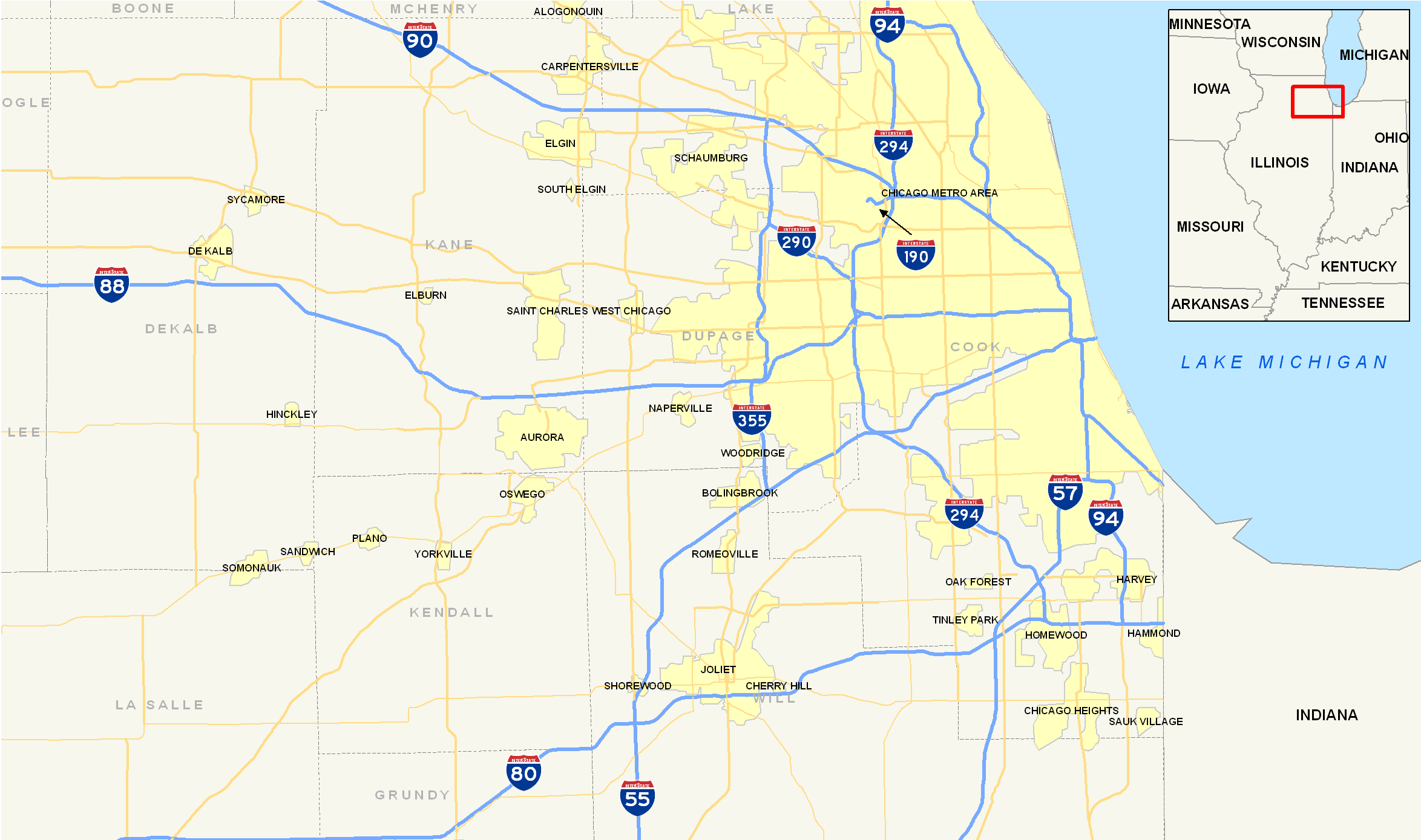 File:Chicago Interstates map.png - Wikimedia Commons