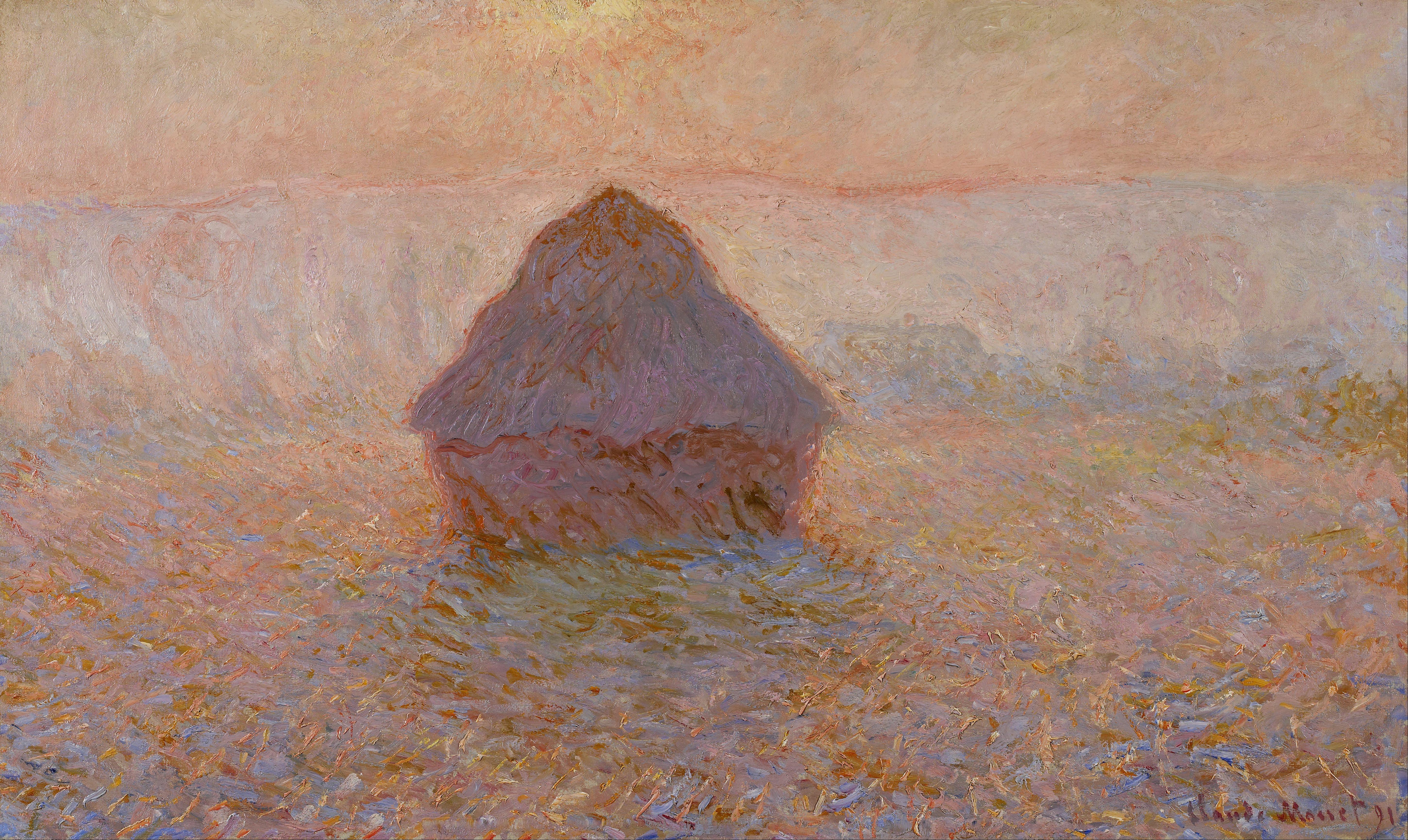 File Claude Monet Grainstack Sun In The Mist Google