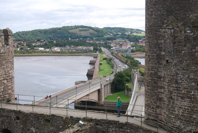 File:Conwy Bridge and approaches seen from Conwy Castle - geograph.org.uk - 1481154.jpg