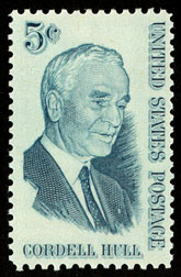 Cordell Hull commemorative stamp issued in 1964
