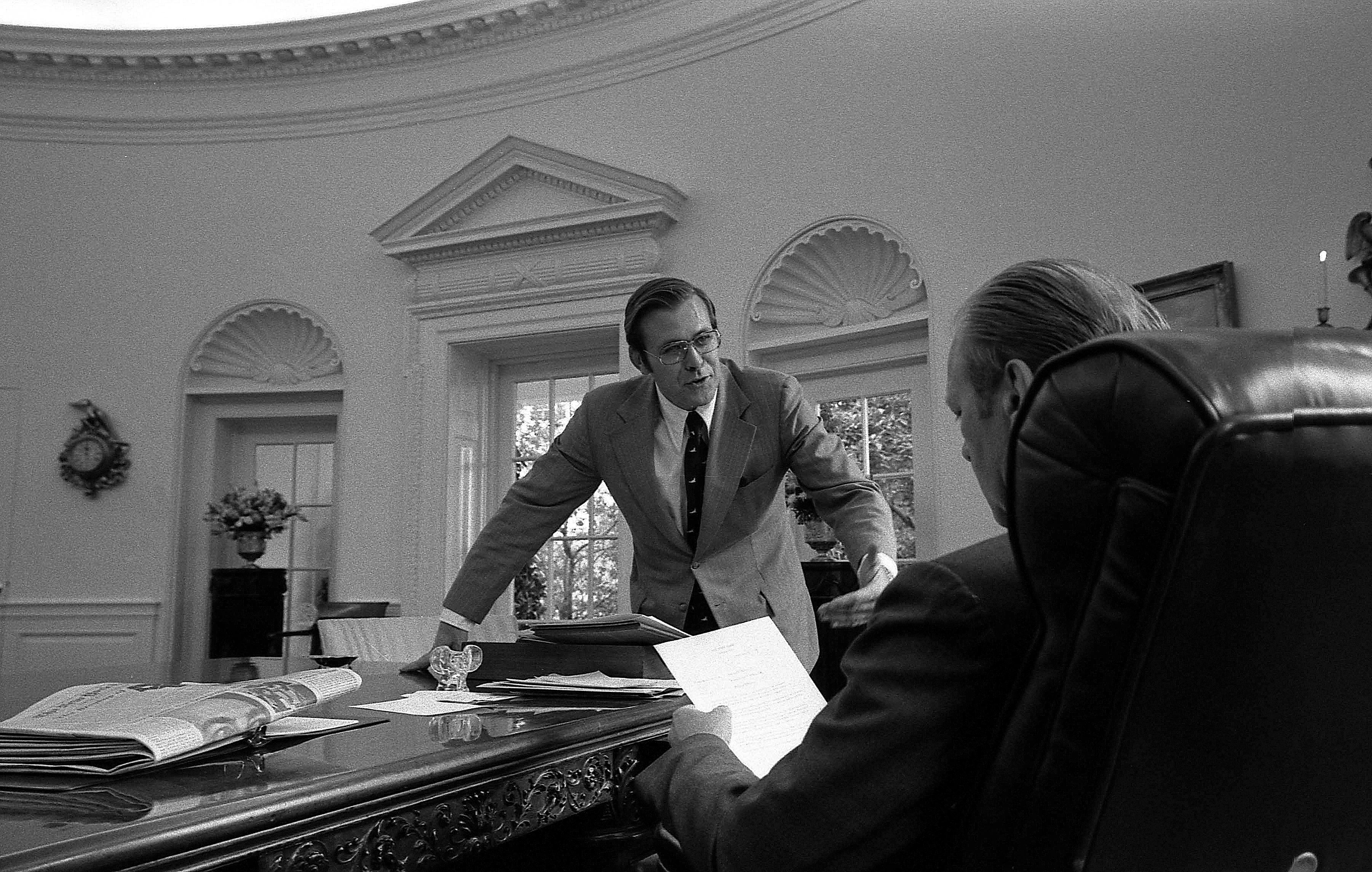File Donald Rumsfeld Gerald Ford Nara 7140610 Jpg Wikimedia Commons