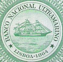 Escudo banco nacional ultramarino en 100 esc