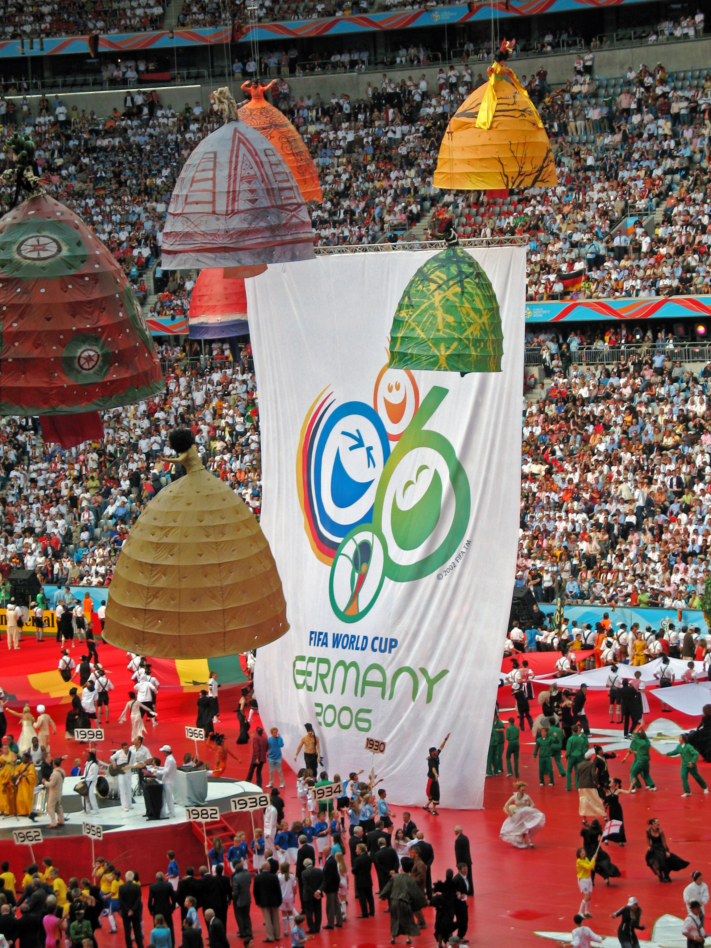 Opening ceremony of the 2006 World Cup, Germany. Credit: Franz from Saarbrücken/Flickr, CC BY 2.0