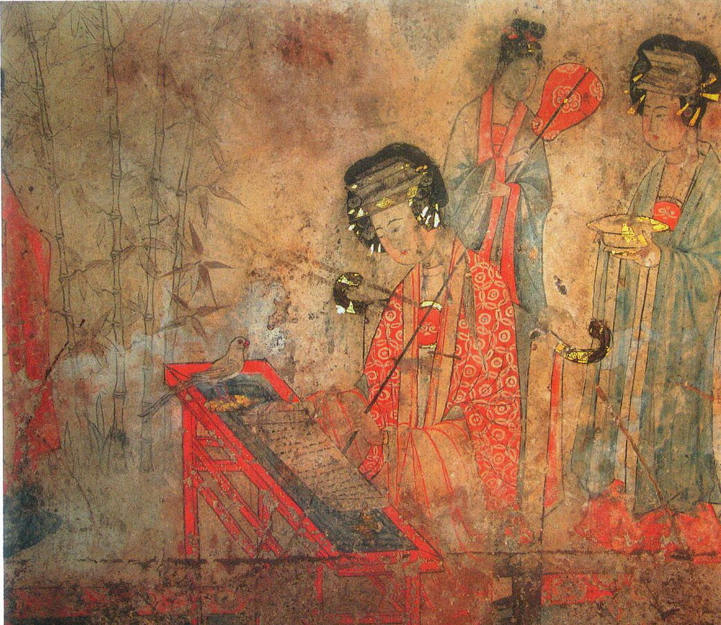File fresco songjingtu liao dynasty tomb at for Dynasty mural works