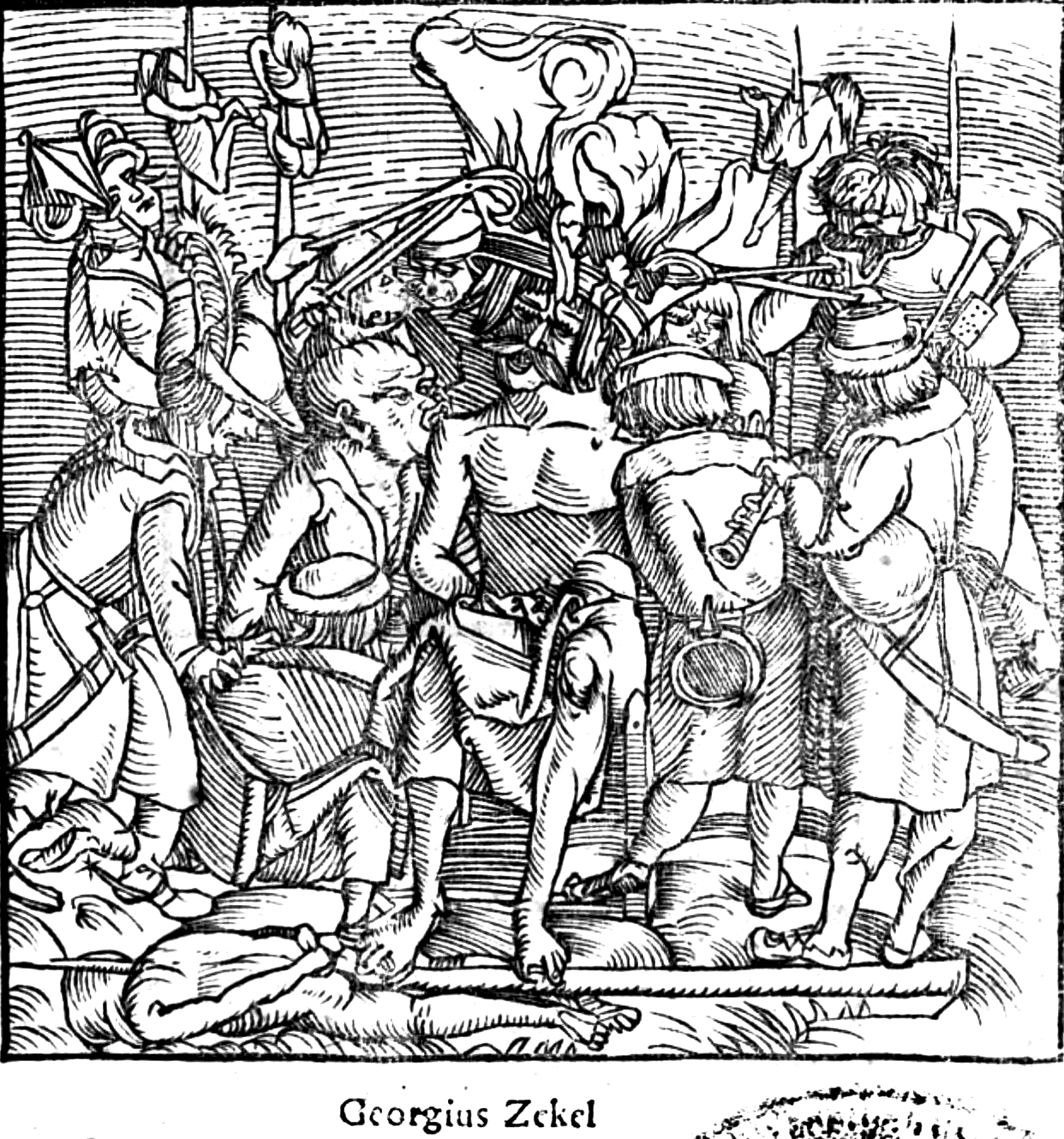 Dózsa's execution (contemporary woodcut)