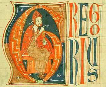 Depiction of Gregorio IX