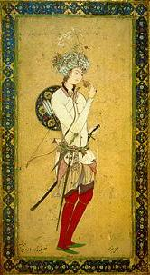 Persian miniature depicting Hārūn ar-Rashīd.