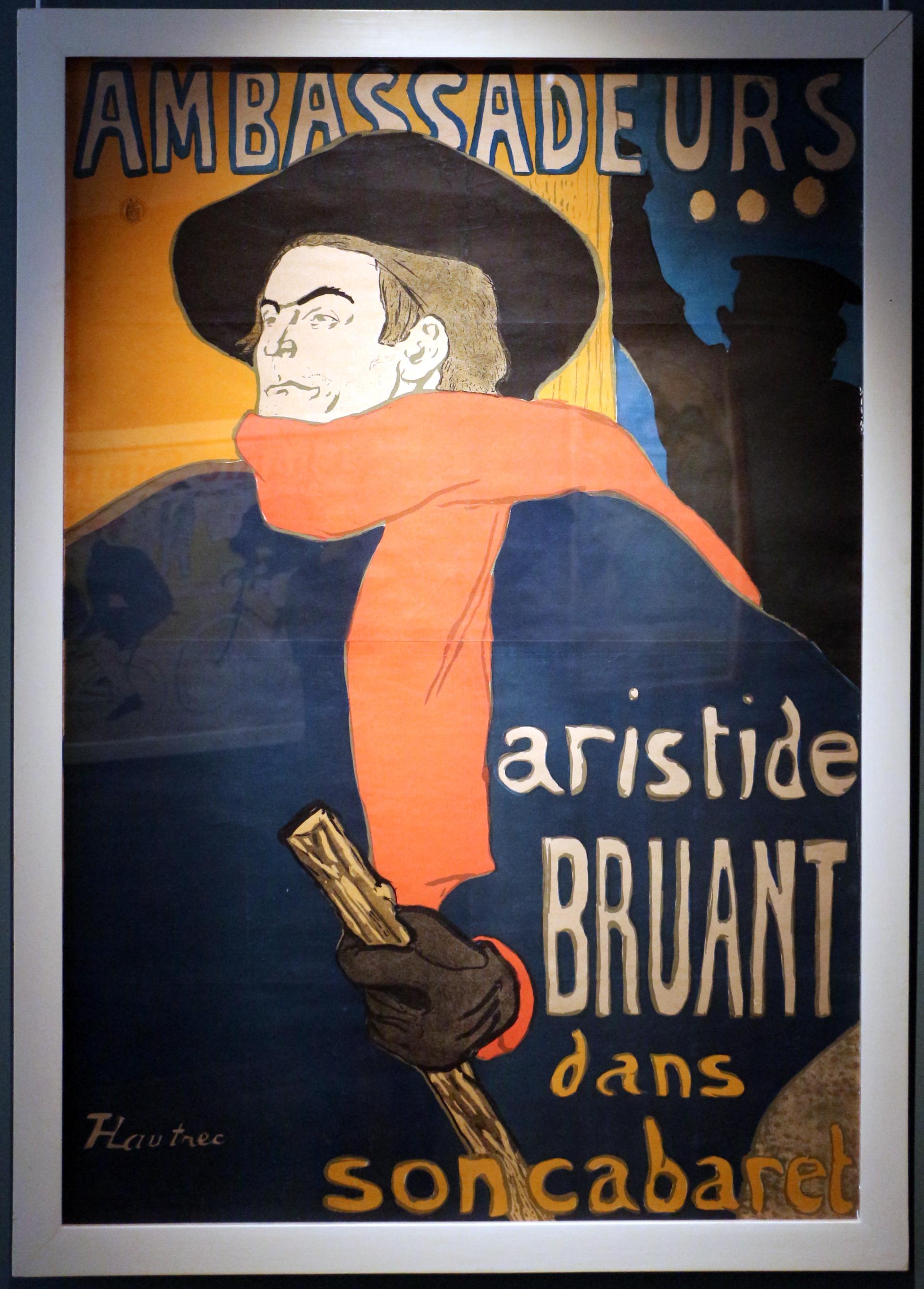 Aristide Bruant poster by  Henri de Toulouse-Lautrec