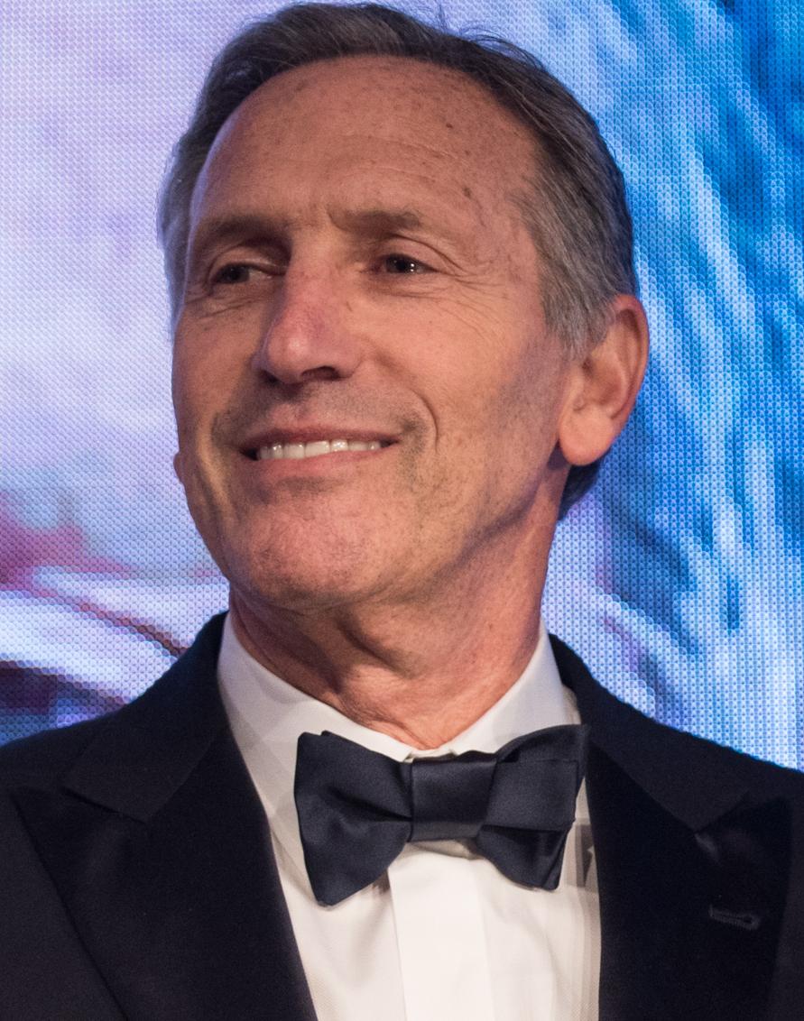 """65-letni 186 cm wzrostu Howard Schultz na zdjęciu z 2019"""""""