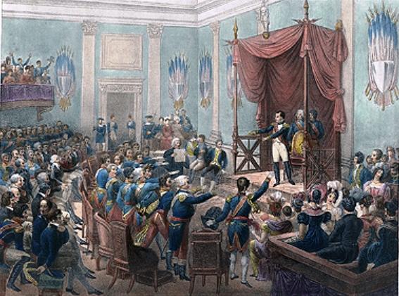 Клятва князей при образовании Рейнского союза. Мотте (1820—1830)
