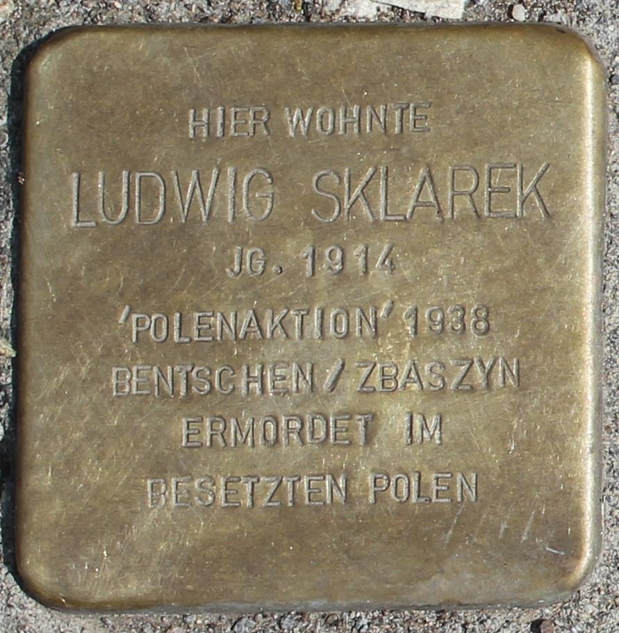 Stolperstein für Ludwig Sklarek