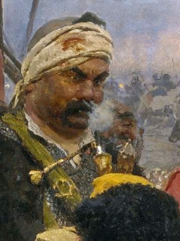 File:Ilja Jefimowitsch Repin - Zaporozhian Cossacks (image detail) 9.jpg