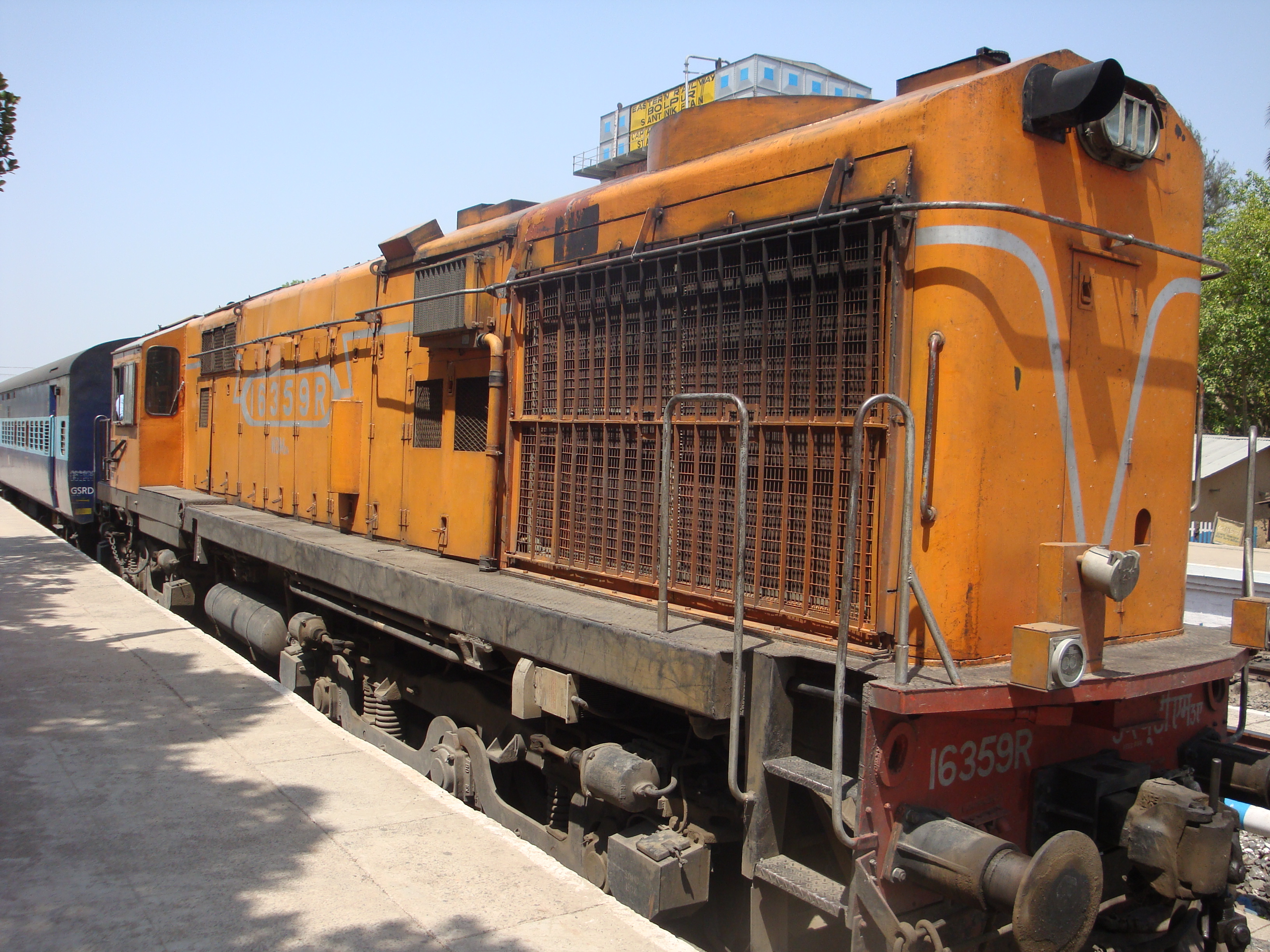 Indian Goods Train Engine