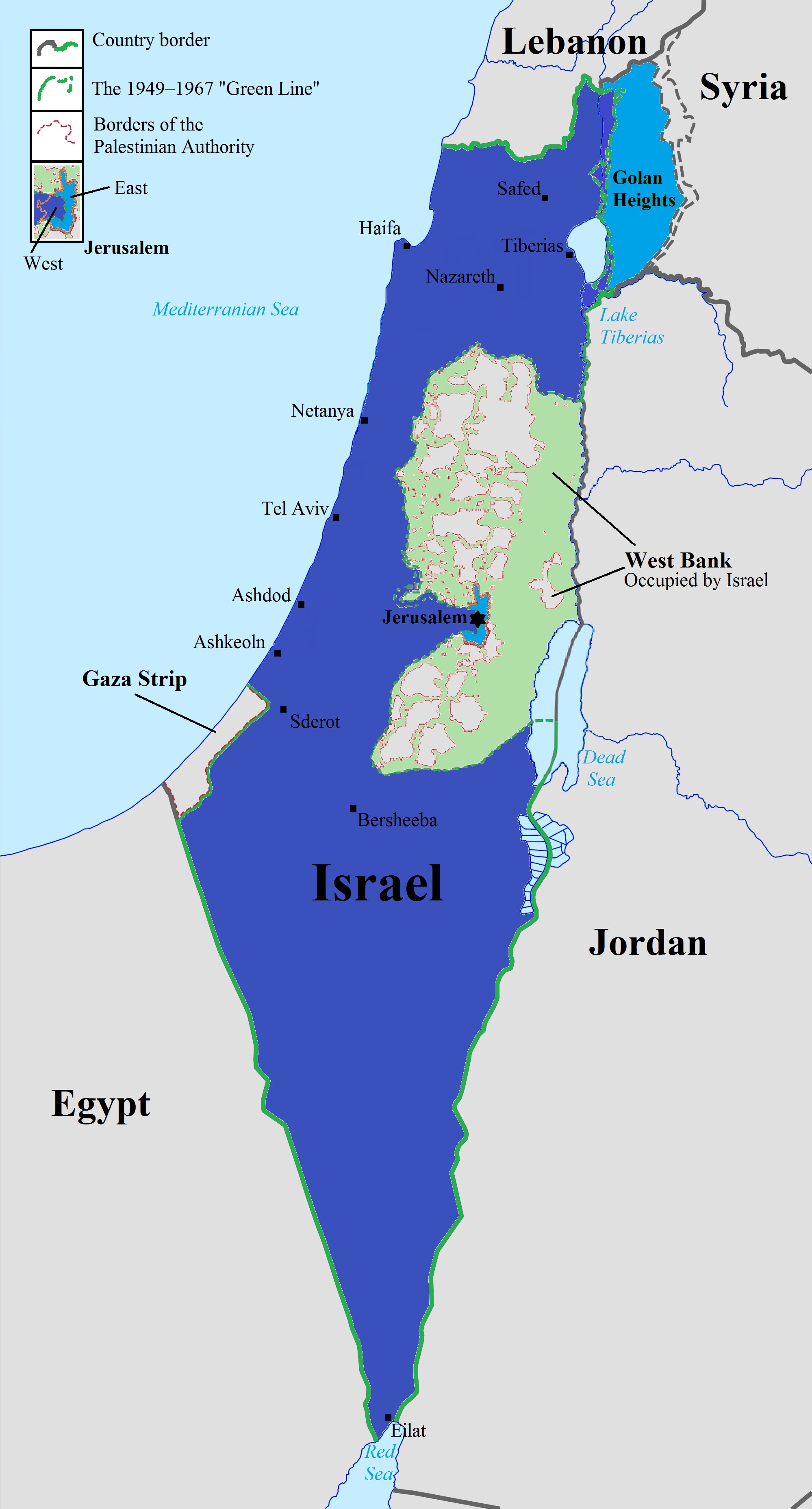 Image result for West Bank and Gaza.