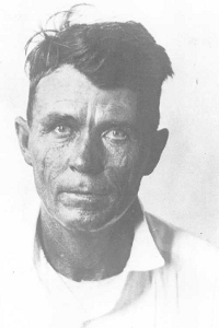 Head shot of James Horace Alderman, Prohibition-era smuggler who was executed by the federal government after being convicted of killing two Coast Guardsmen and a Treasury officer and wounding two other Coast Guardsmen.