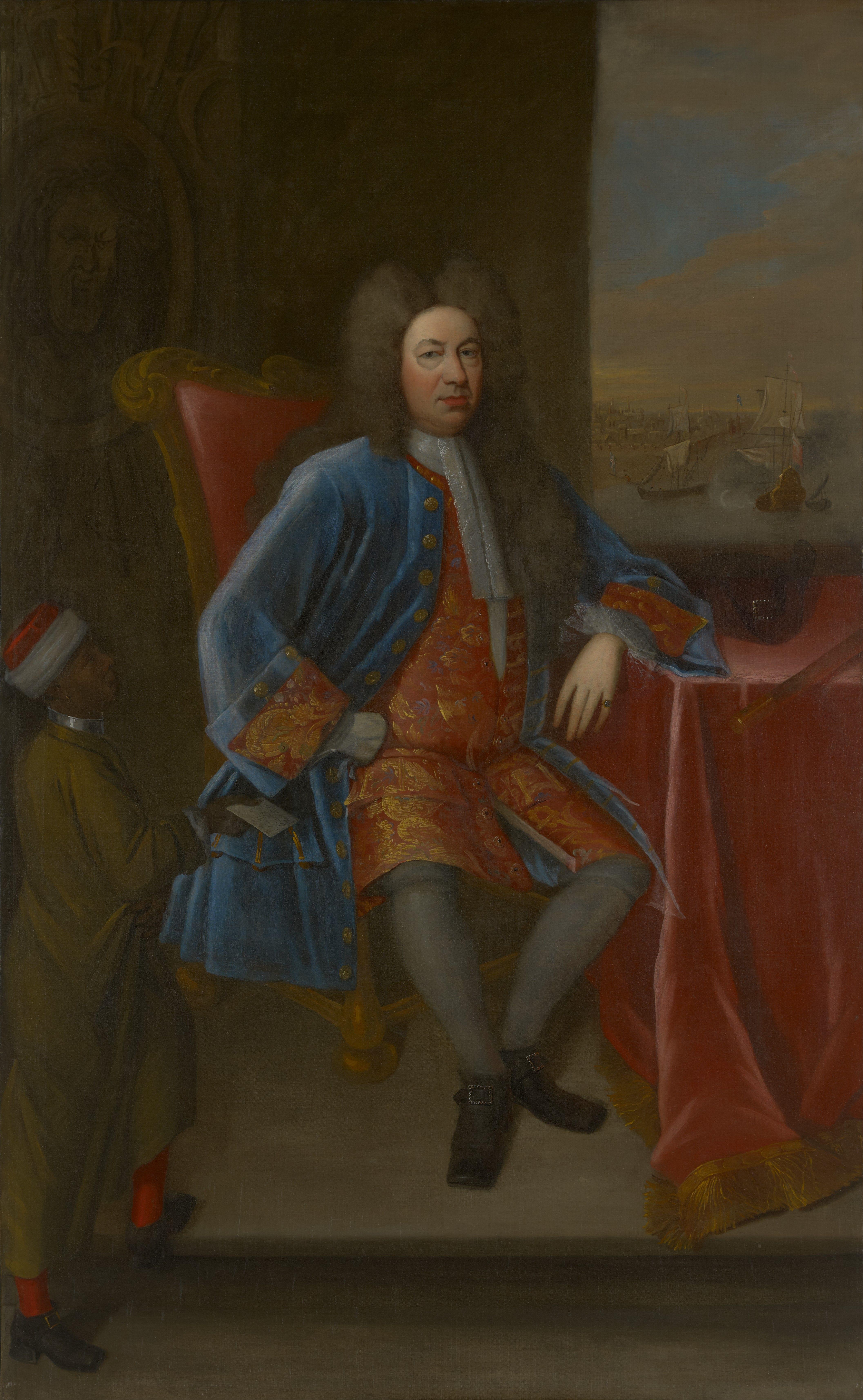 Portrait of Yale University founder [[Elihu Yale