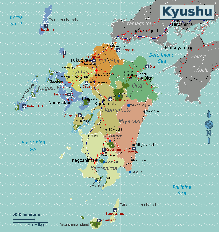 FileJapan Kyushu Mappng Wikimedia Commons - Japan map kyushu