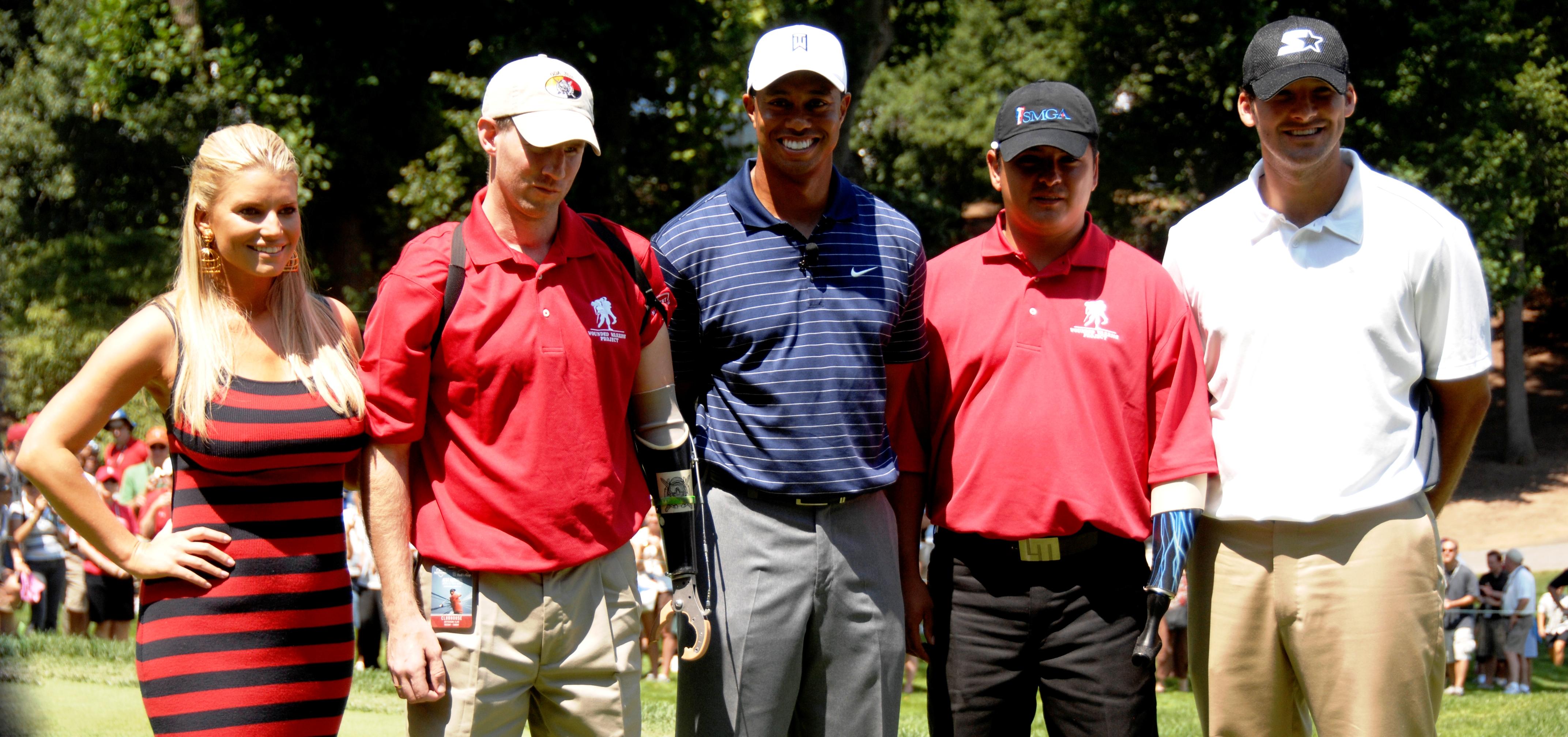 Filejessica Simpson, Tiger Woods  Tony Romo At Earl D -3043