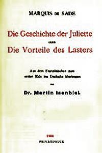 """Γερμανική έκδοση της """"Juliette""""το 1906."""
