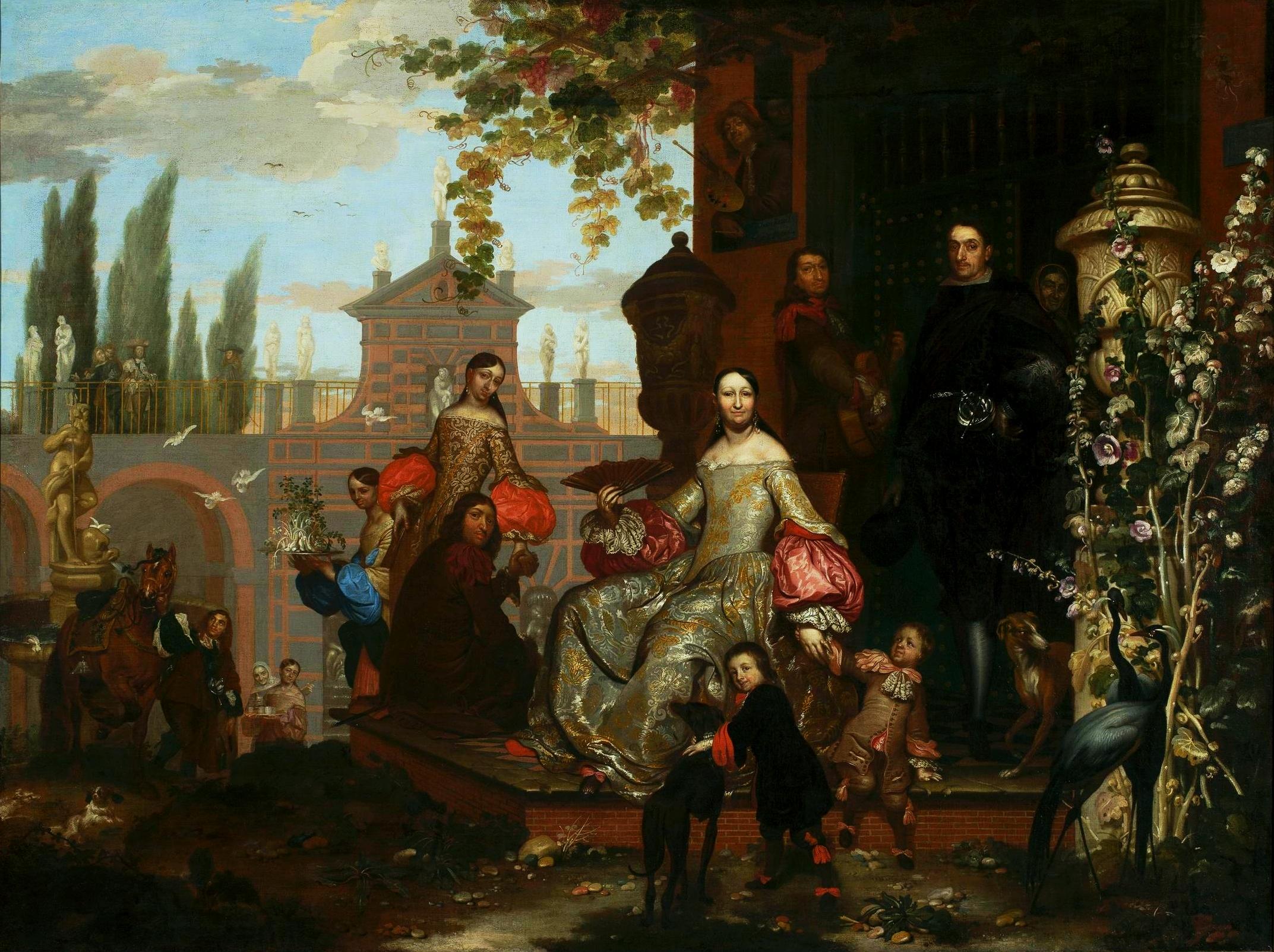 Portret rodzinny w ogrodzie