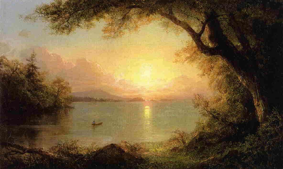 Description landscape in the adirondacks frederic edwin church