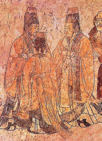 File:Li Xian's tomb, ambassadors2.jpg