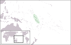 Location of Gilbert and Ellice Islands