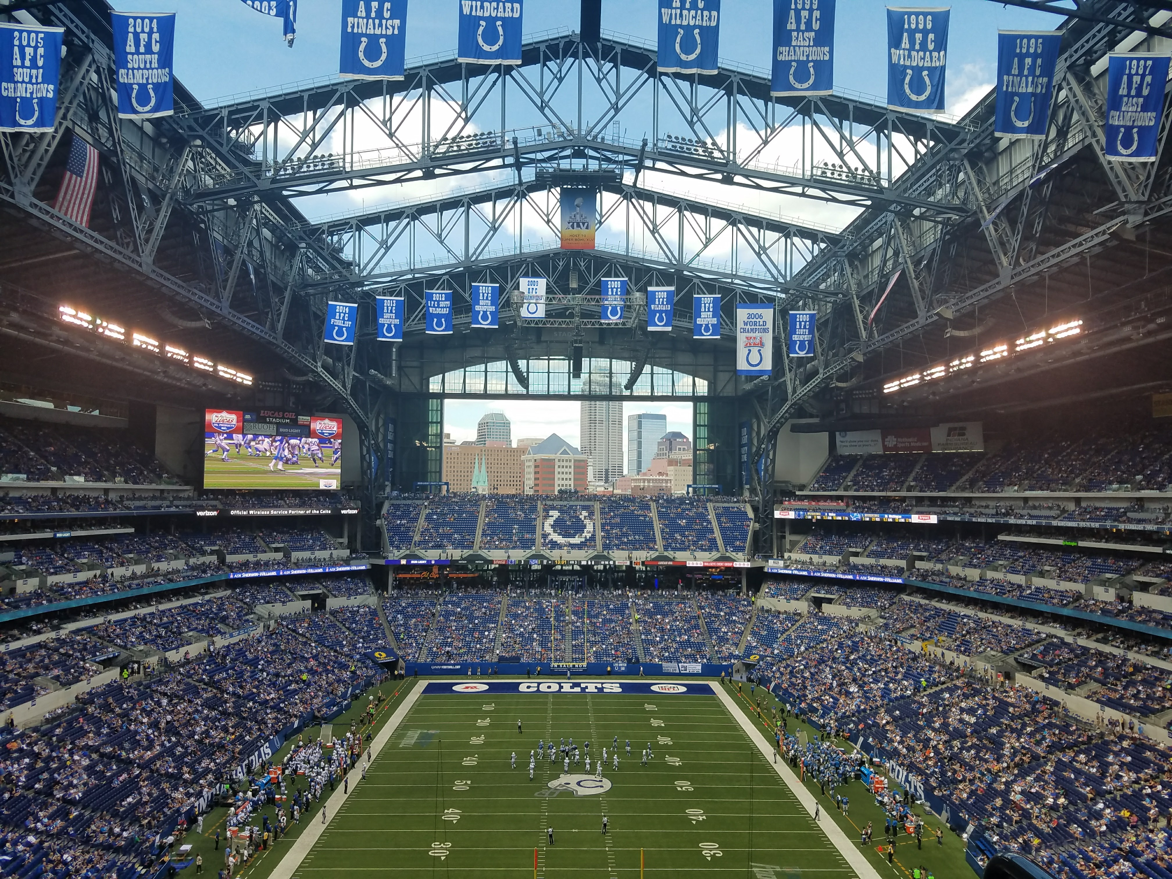 Lucas Oil Stadium Visitor Locker Room Location Nfl