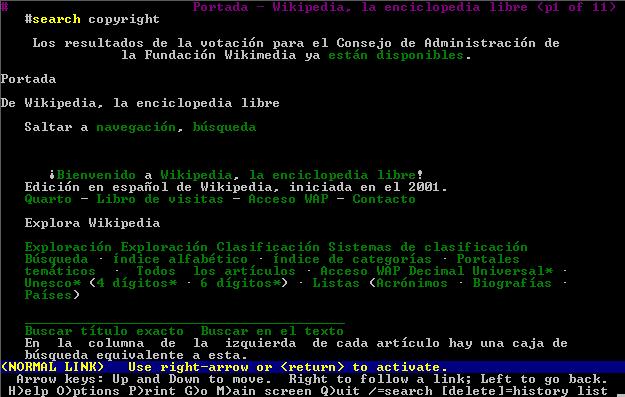 Navegadores Web en terminal