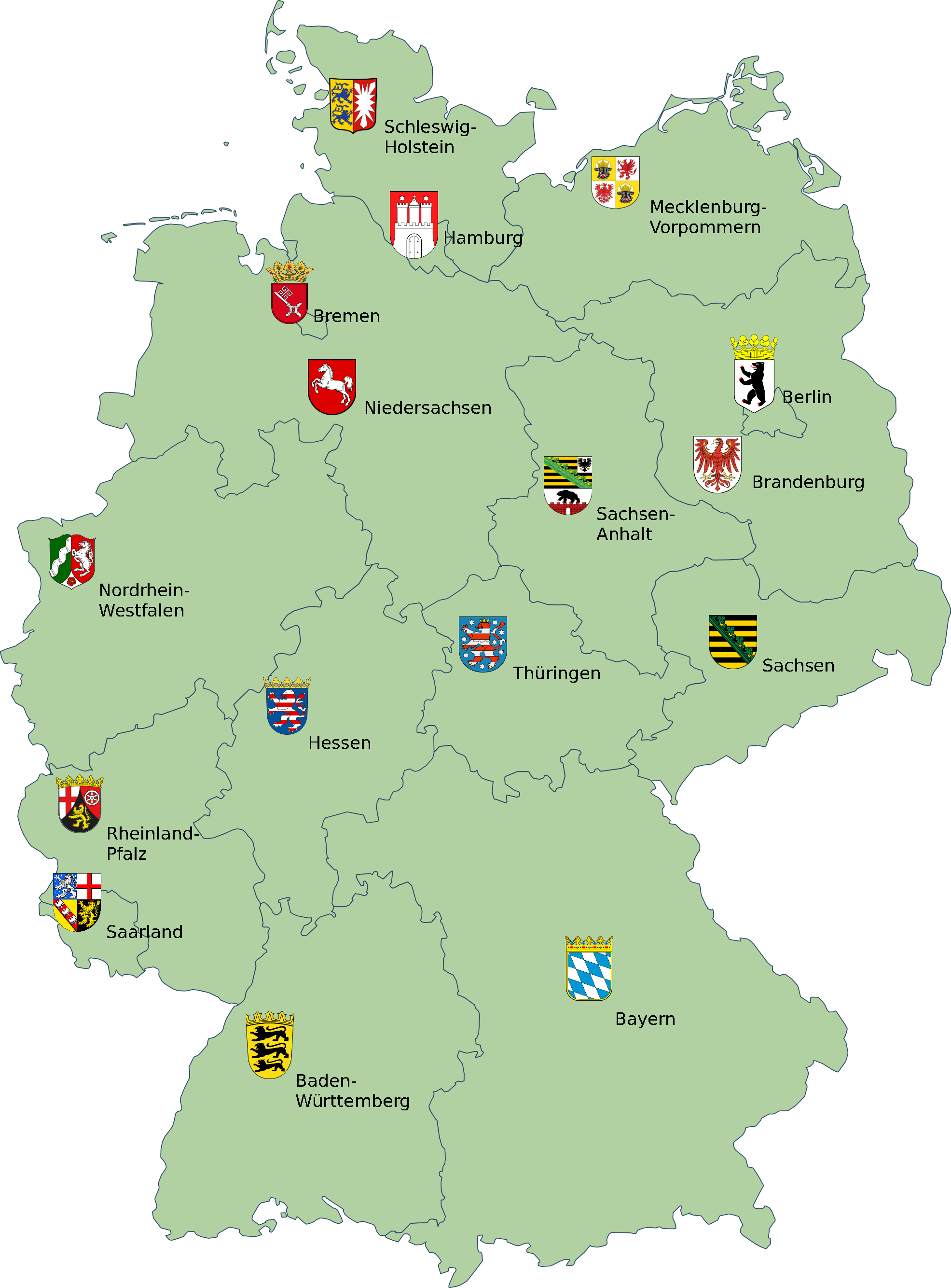 fitxategi map germany with coats of wikipedia. Black Bedroom Furniture Sets. Home Design Ideas