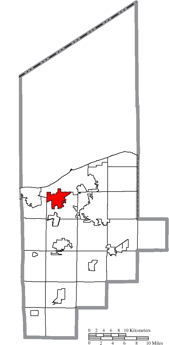 File Map Of Lorain County Ohio Highlighting Amherst City Png