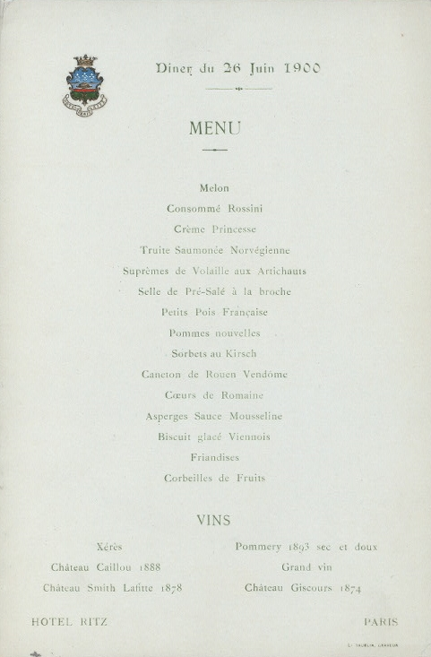 File menu h tel ritz paris wikimedia commons for H kitchen paris menu
