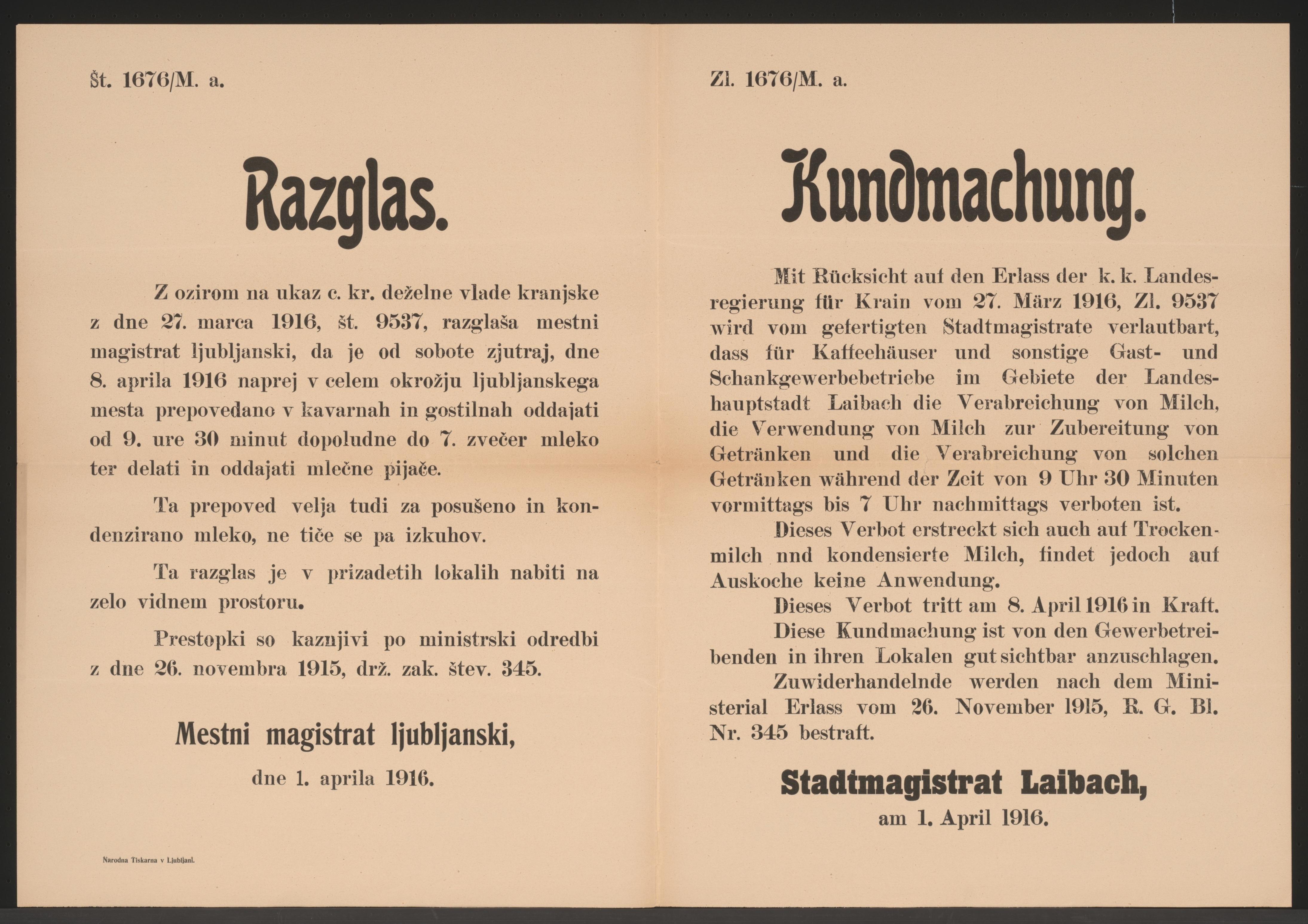 File:Milchgetränke - Kundmachung - Laibach - Mehrsprachiges Plakat ...