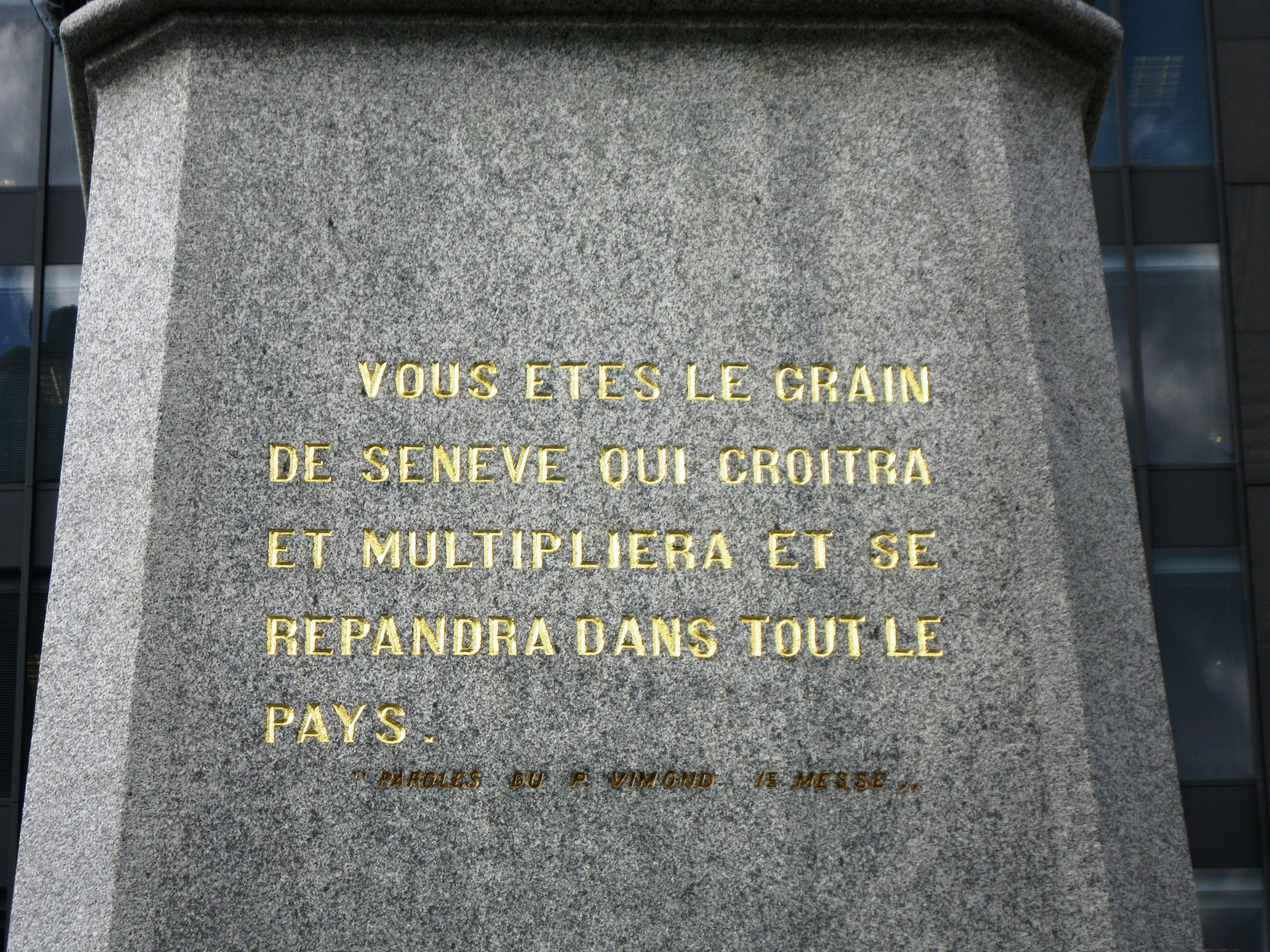 Fichier Monument A Maisonneuve Citation 2a Jpg Wikipédia