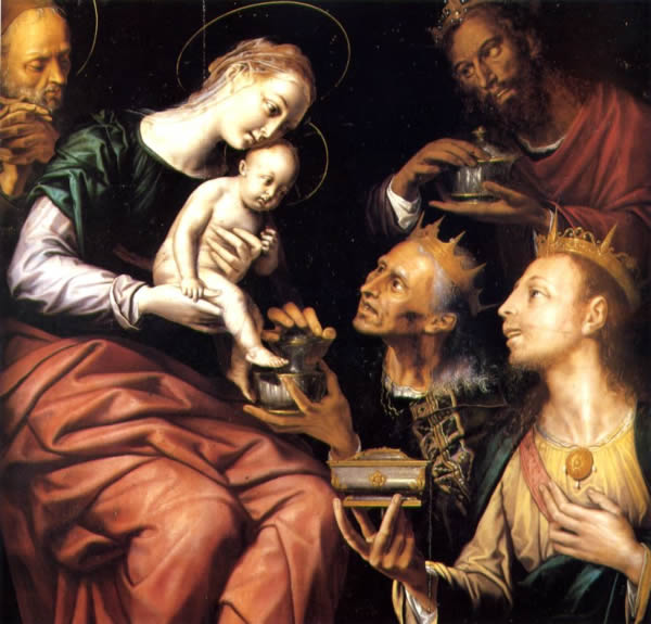 Museo. Tabla de la Adoración de los Reyes Magos, de Pedro de Campaña
