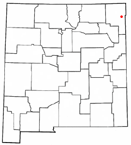 Location of Clayton, New Mexico
