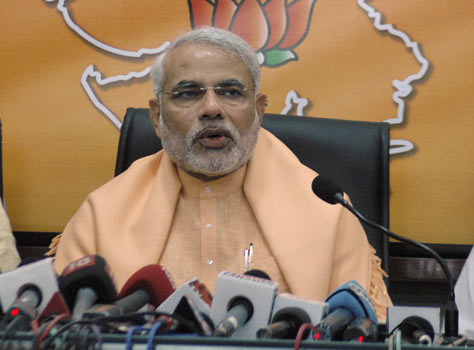 Narendra Modi in Press Conference