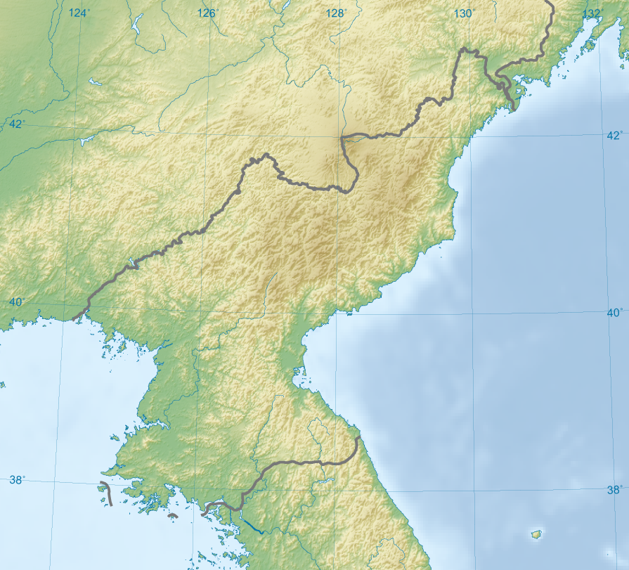 Carte Chine Frontiere.Frontiere Entre La Chine Et La Coree Du Nord Wikipedia
