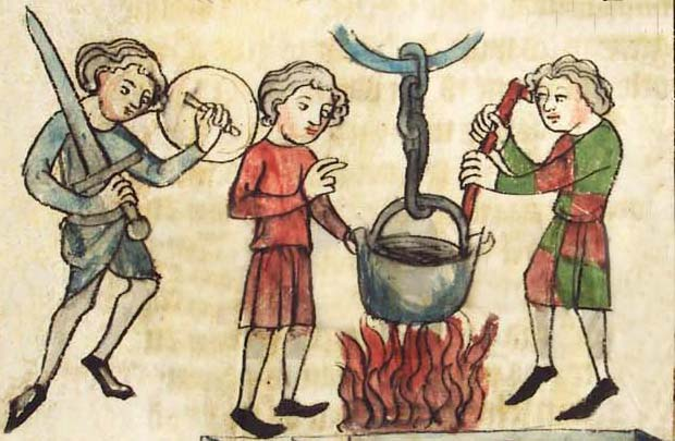 Ordeal of boiling water