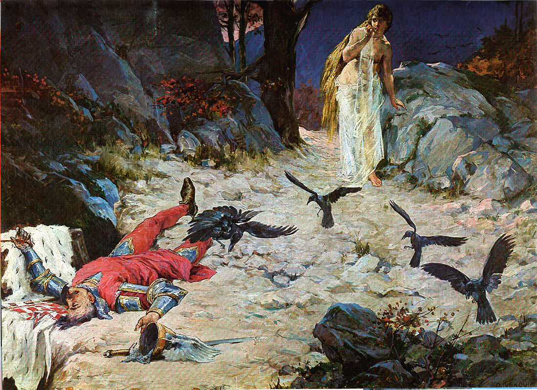 Batalla de la montaña Gvozd Oton_Ivekovic,_Smrt_kralja_Petra_Svacica_u_Gori_Gvozdu_1097_god