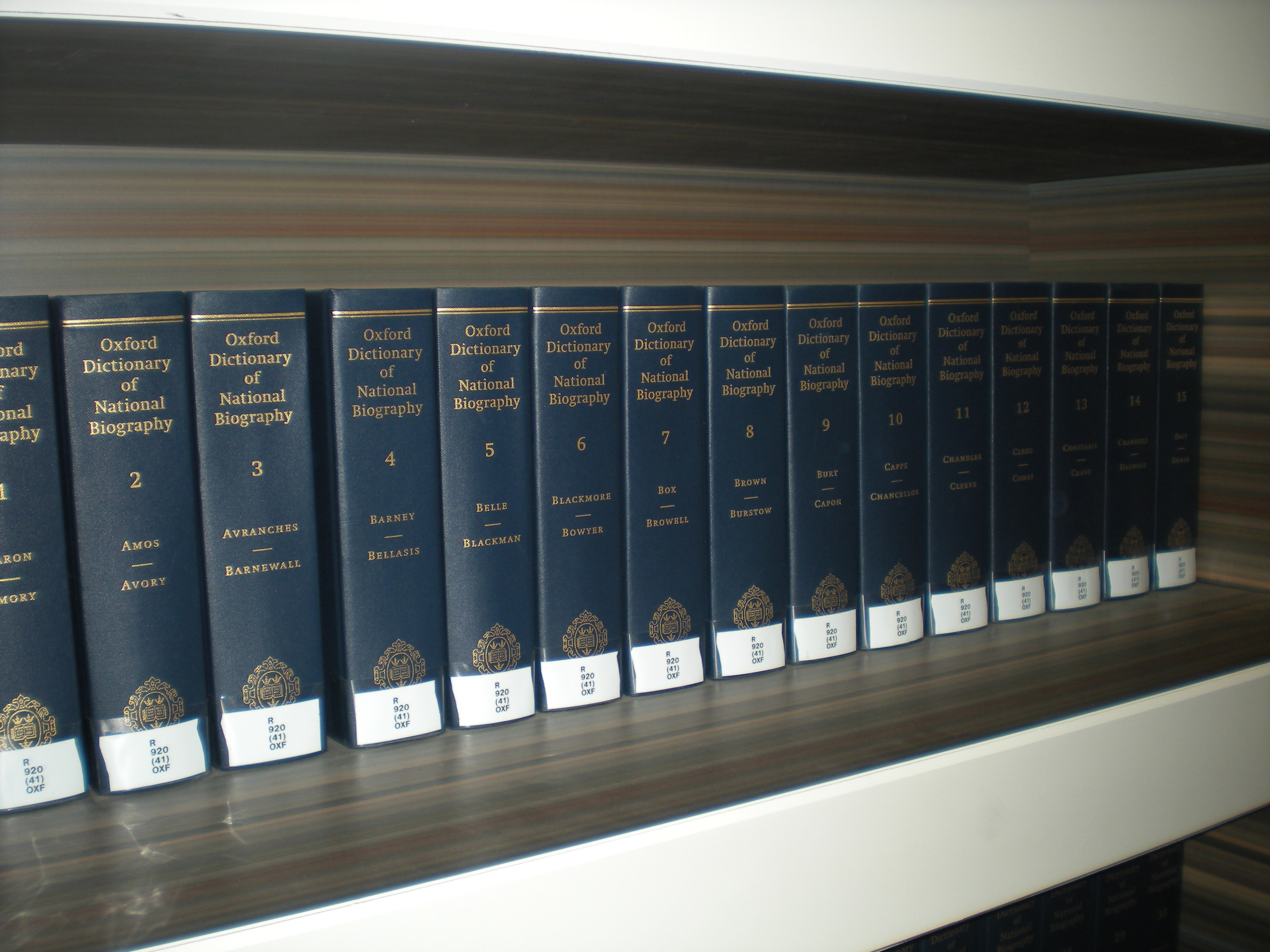 Oxford Dictionary of National Biography volumes