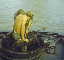 PBR Mark II forward .50 caliber M2 machine guns - Patrol Boat, River