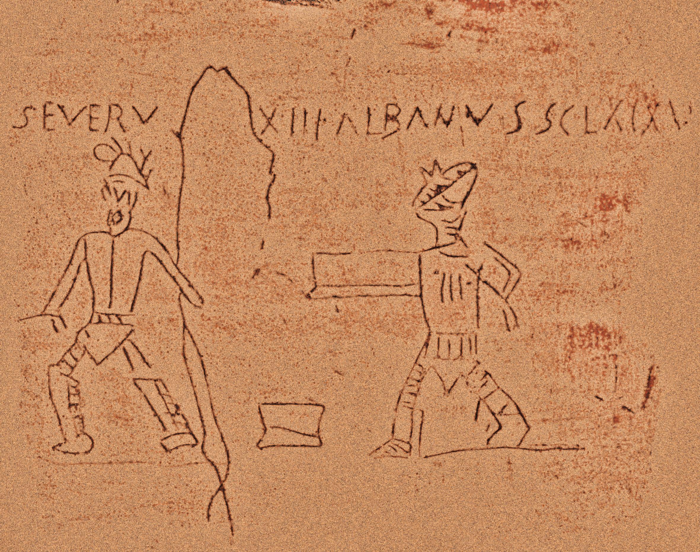 Graffito zweier Gladiatoren, Pompeji