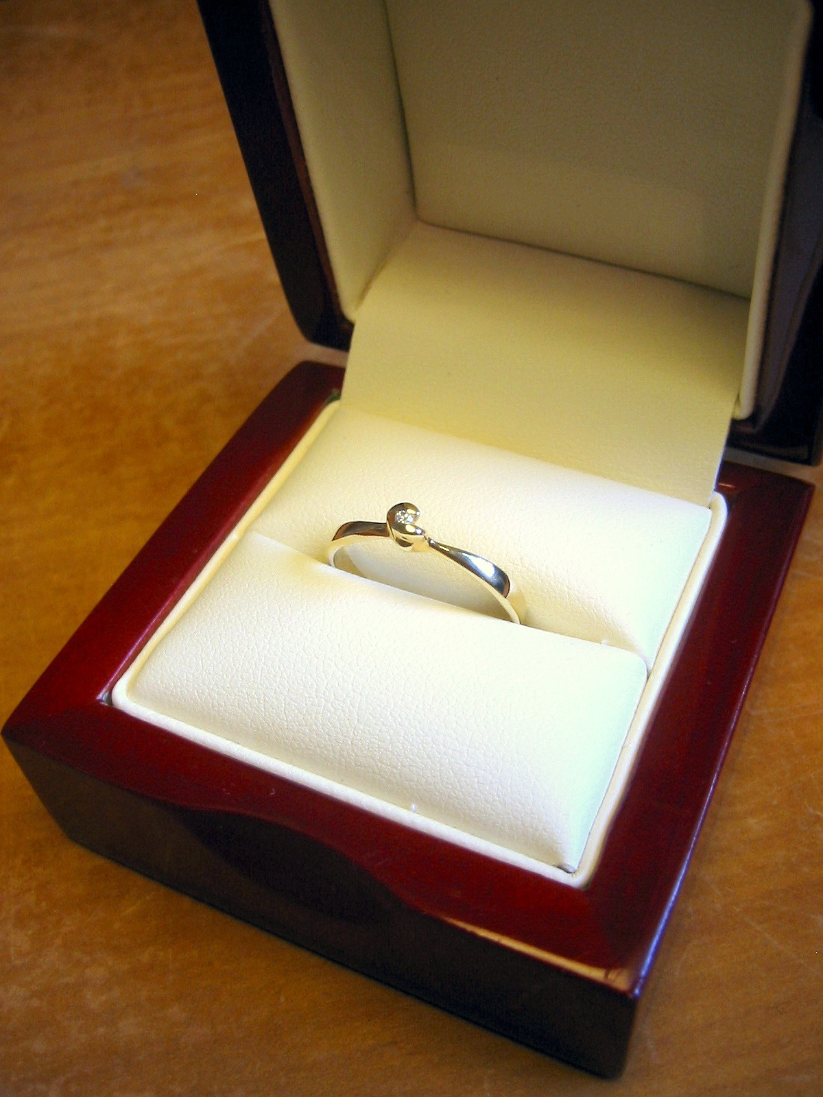 Promise Ring With Heart Imprint