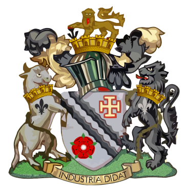 The coat of arms of the former Municipal Borough of Radcliffe Radcliffe Borough Council - coat of arms.png